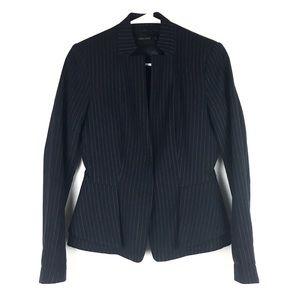 Zara lapeless notched peplum blazer jacket